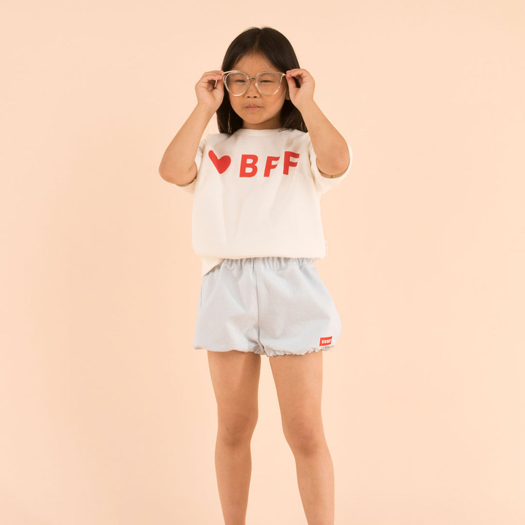 Bff Off White Short Sleeved Sweatshirt