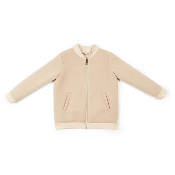 Light pink bomber jacketmade in Italy from the finest fabrics by I Leoncini