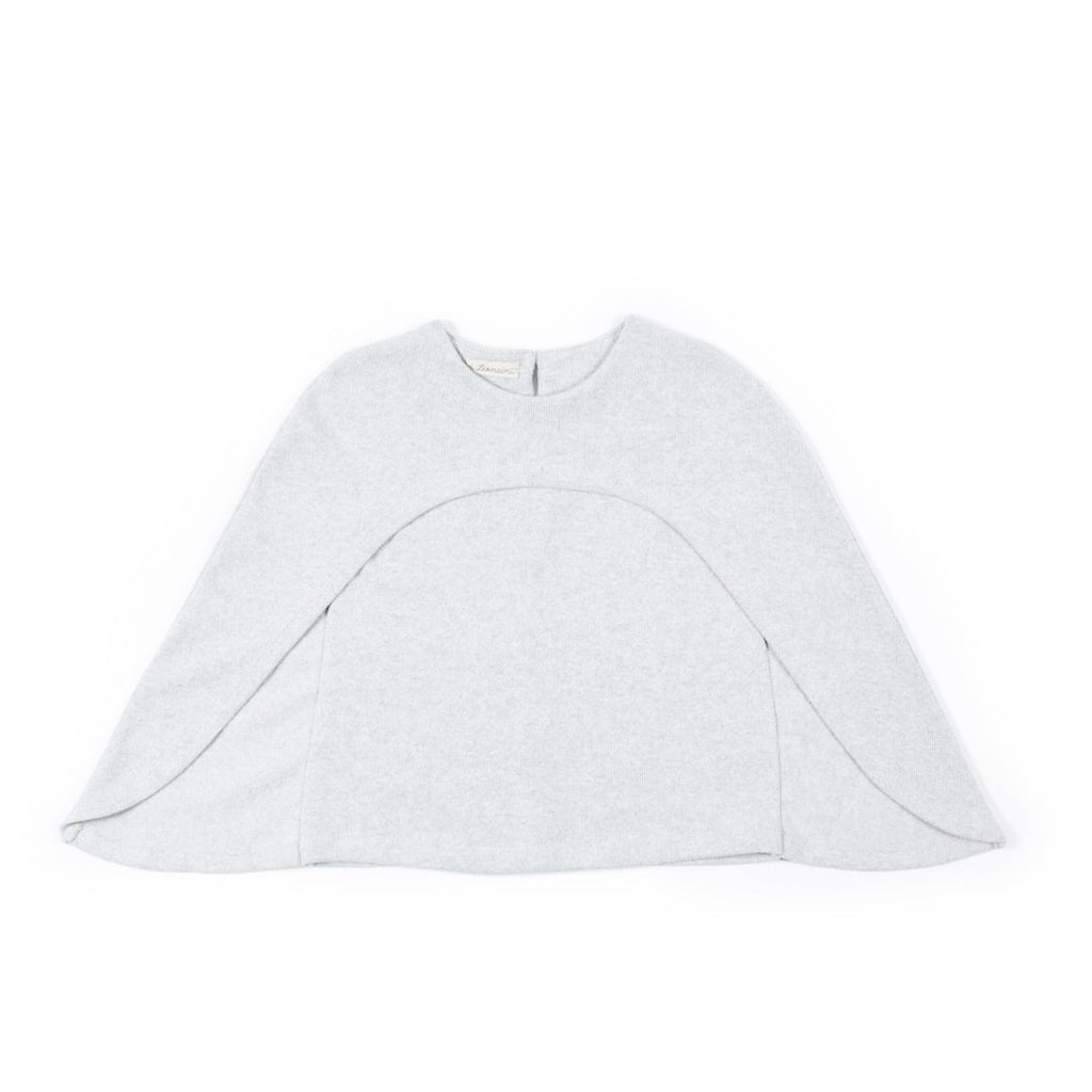 Girls cape in light gray by I Leoncini