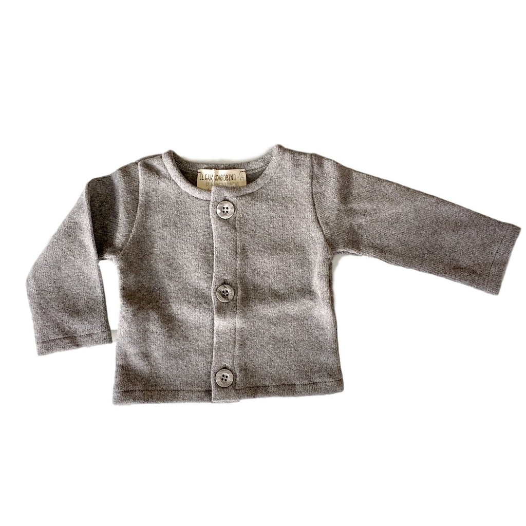 Soft, long-lasting cardigan knit for babies by Il Guardarobino