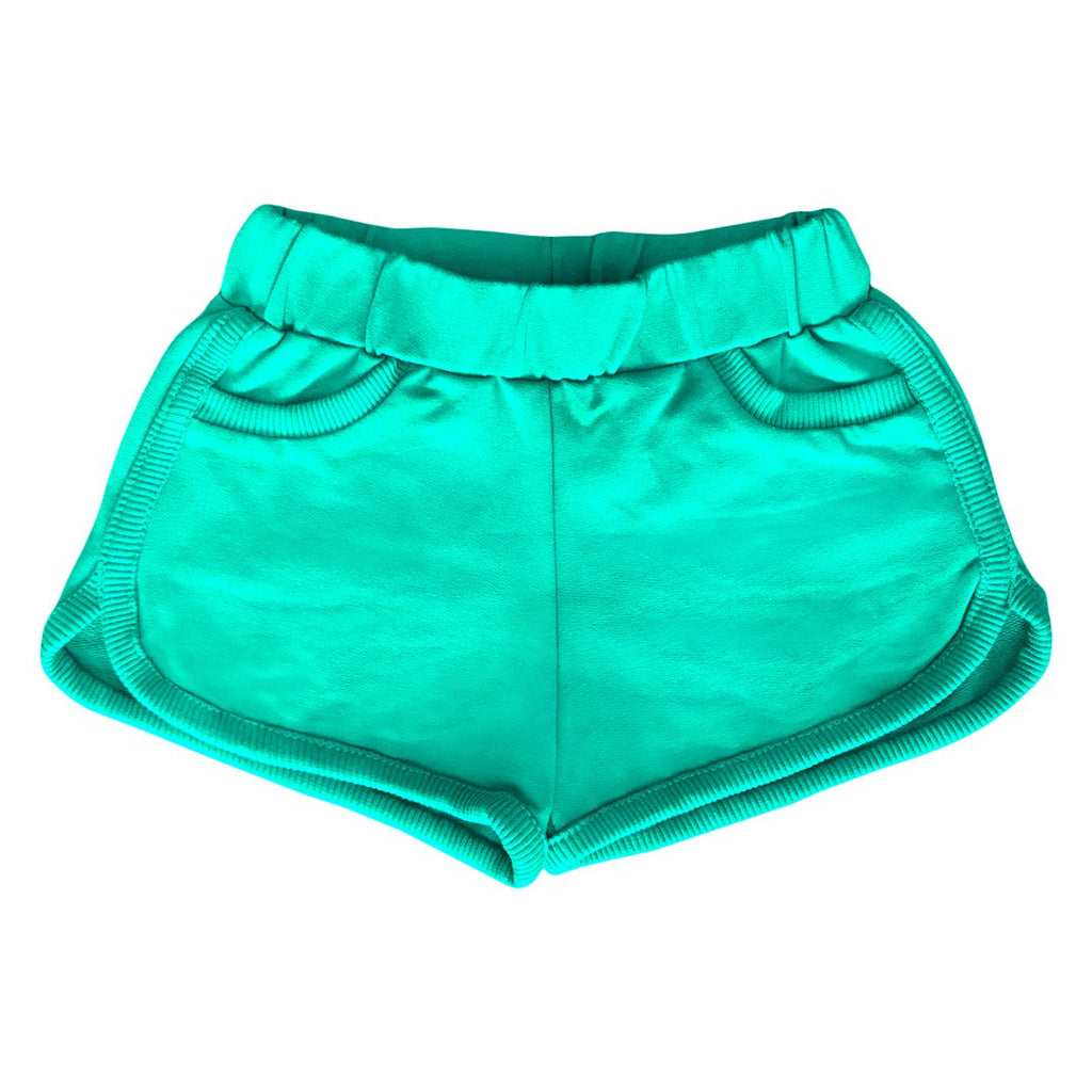 Unisex shorts in organic cotton in a leaf green colorby EFVVA