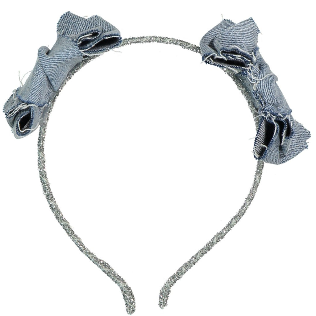 Double bow denim headband by IllyTrilly