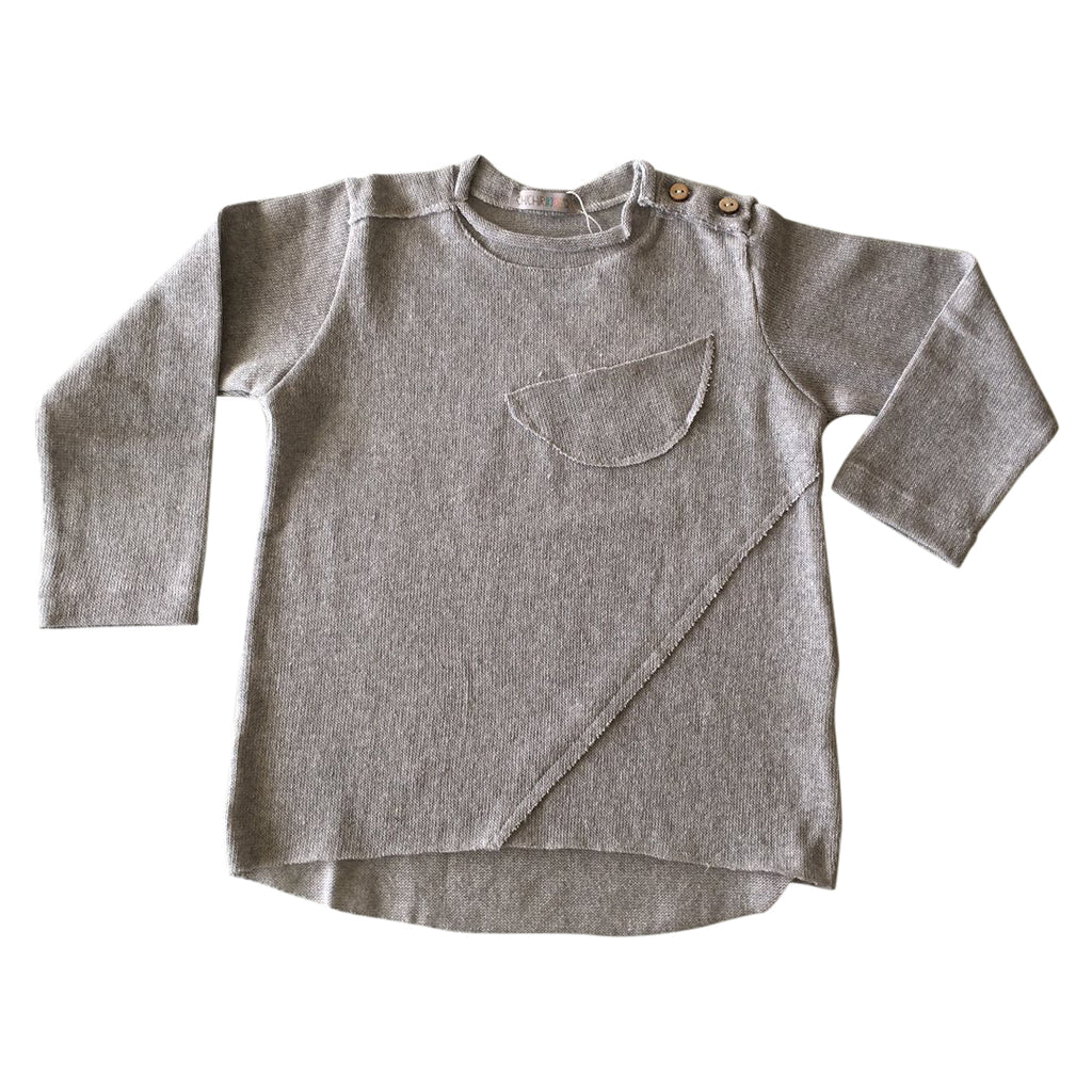 Lightweight unisex sweater in light gray by Chichirikids