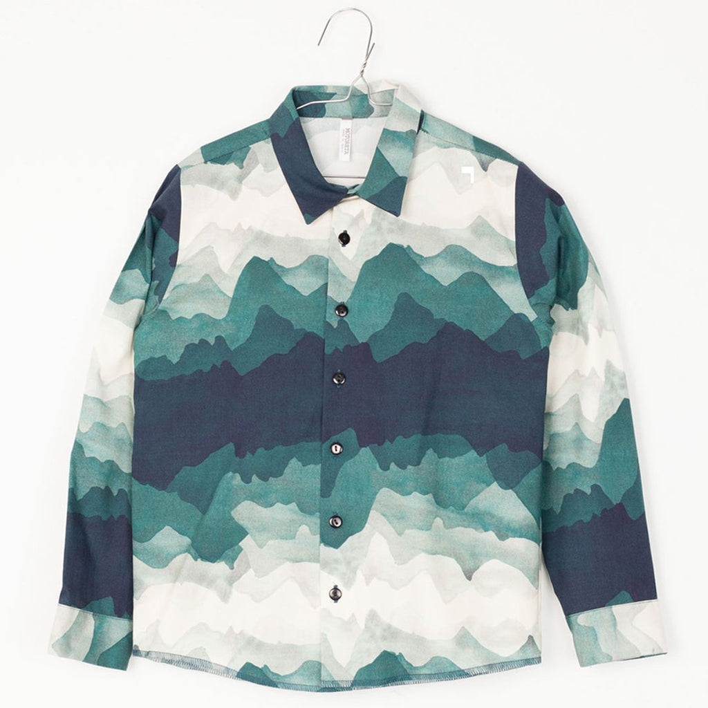 Boys shirt with a beautiful landscape print by Motoreta