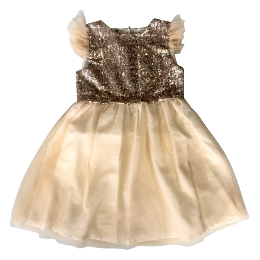 Girls peach sequin and tulle dress by Chichirikids