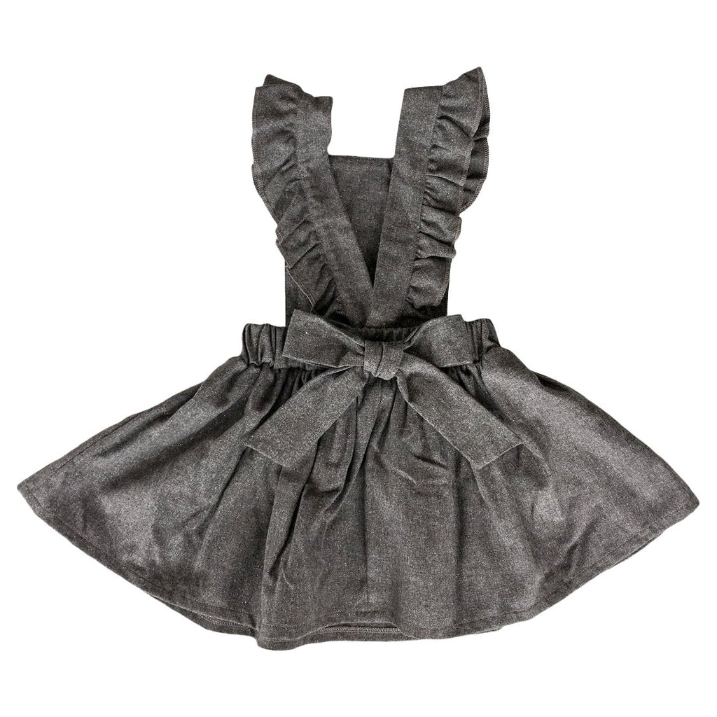 Suspender dress in gray lurex by Chichirikids