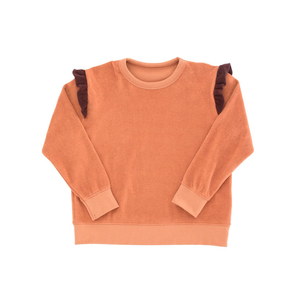 Frills Towel Sweatshirt Terracotta Plum