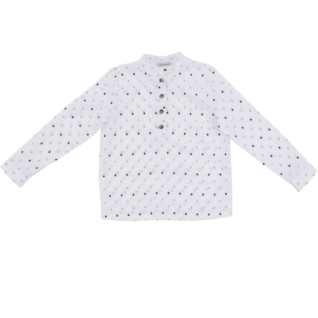 Boys white shirt with small patterns by I Leoncini