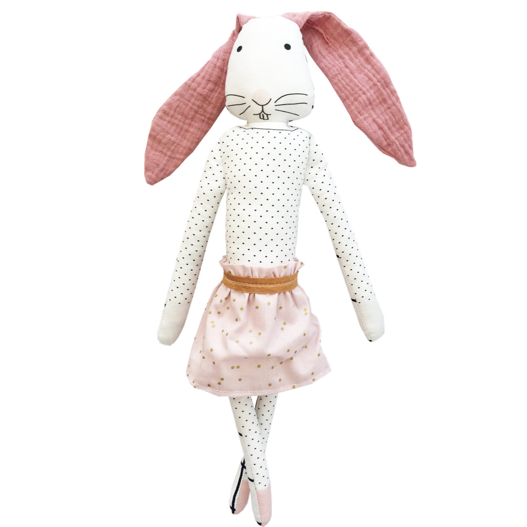 Plank rabbit Marguerite by Lili Moko stuffed toy