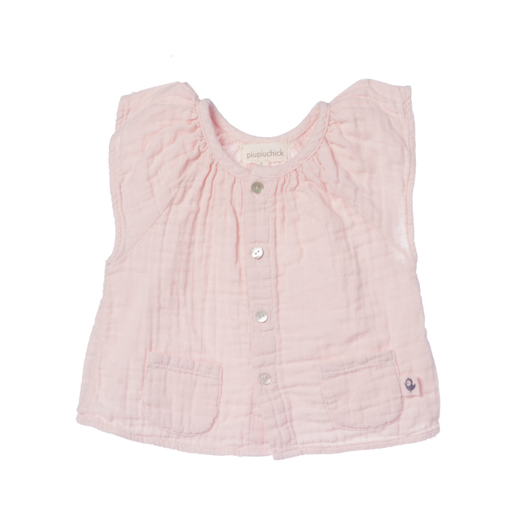 Baby girl shirt salmon