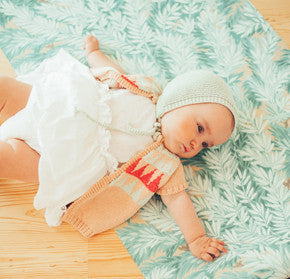 baby girl white body dress and knitted cotton vest by piupiuchick