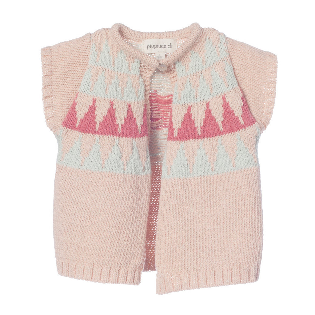 Baby girl knitted vest