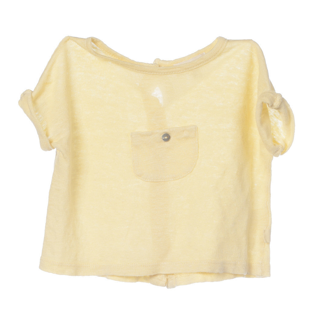Baby Linen T-Shirt Yellow
