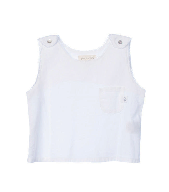 Baby girl sleeveless shirt white