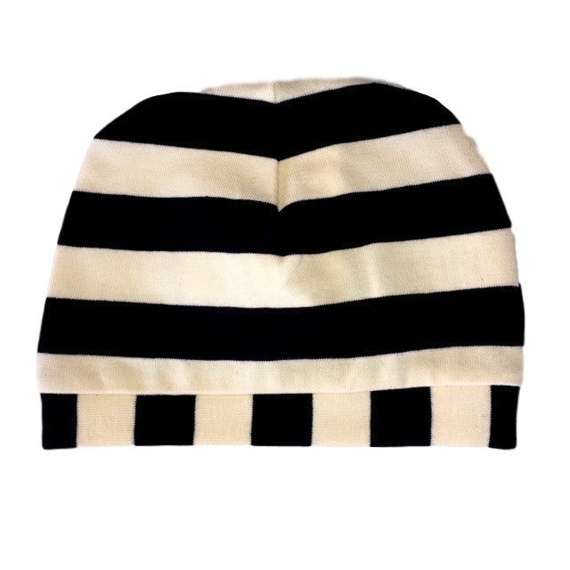 Baby Beanie Navy Blue Stripes