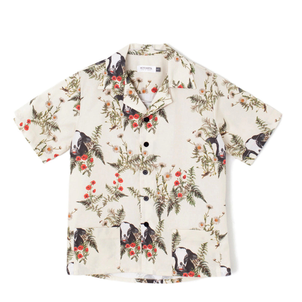 Flowers and Bulls Short-Sleeve Shirt