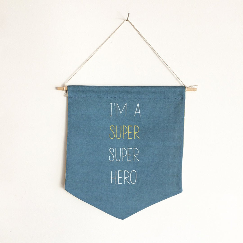 Colourful banner in blue is perfect for the room decor by Lili Moko