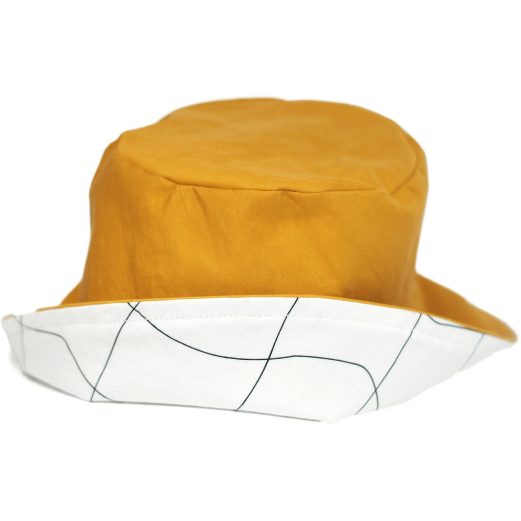 Reversible Hat Mustard And Grid