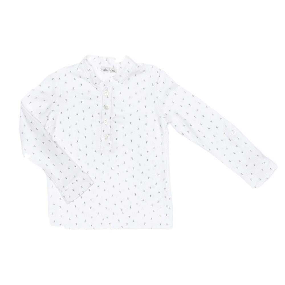 Boys Korean white shirt