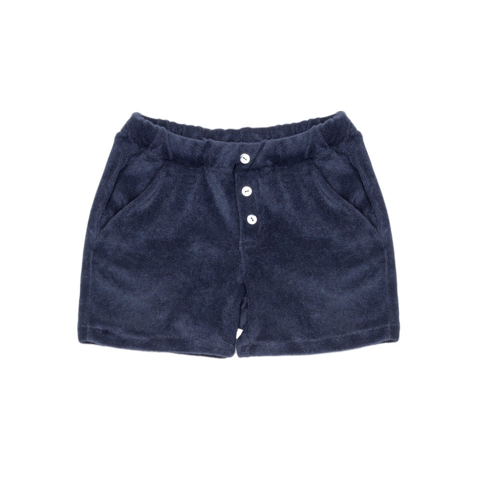 Terry Cotton Shorts Blue
