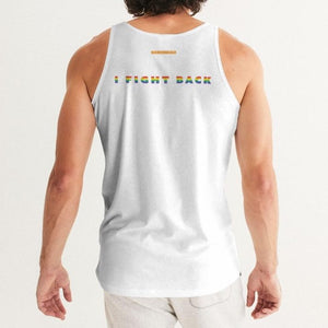 I Fight Back white Men's Tank