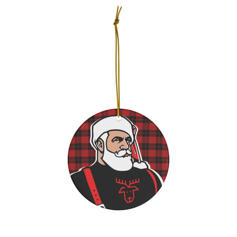 Santa 2020 Ceramic Ornament