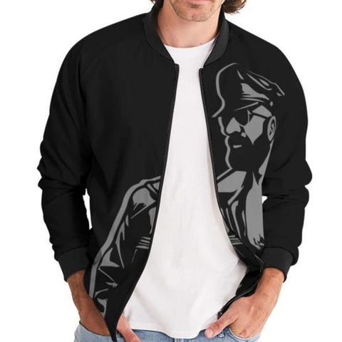 Leather Dad Men's Bomber Jacket