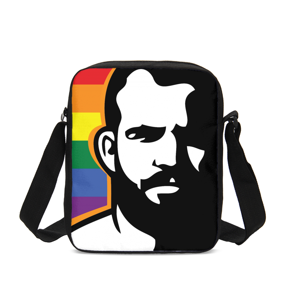 Man Icon Pride Messenger Pouch