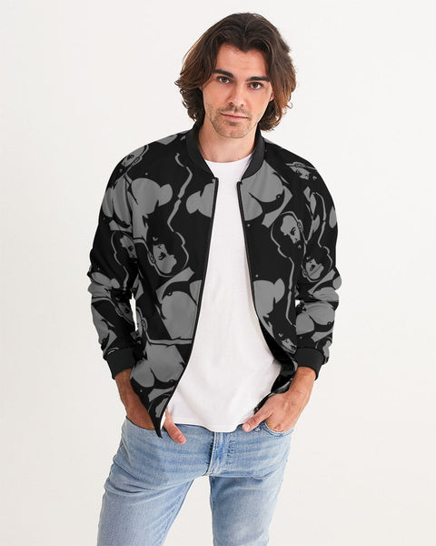 Dark room gray Men's Bomber Jacket