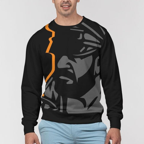 Biker 2 Men's Classic French Terry Crewneck Pullover
