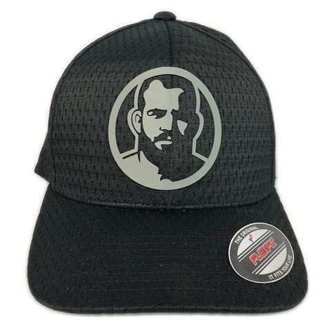 Rubber Man Icon Black mesh cap
