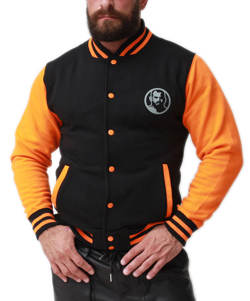Rubber Patch Letterman Jacket