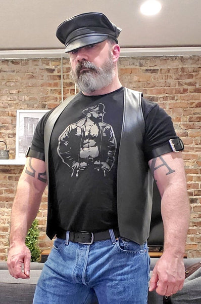 Leather Dad Hand Printed Tshirt & Tank Top