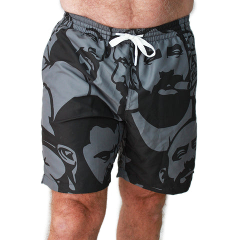 Simply Masculine gray.jpg Men's Swim Trunk