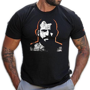 Man Icon hand printed T-shirt