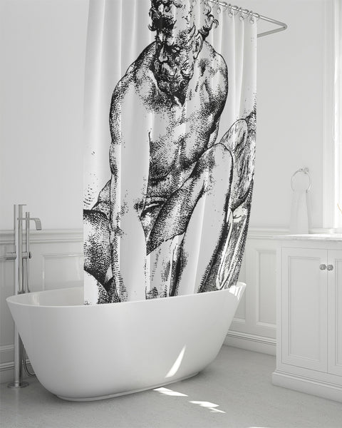 "Prometheus Shower Curtain 72""x72"""