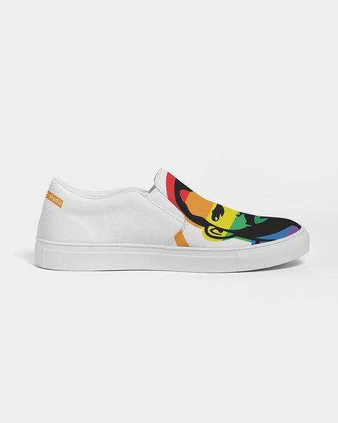 PRIDE White Men's Slip-On Canvas Shoe