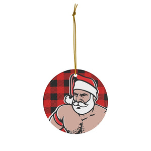 Santa (1019) Ceramic Ornaments