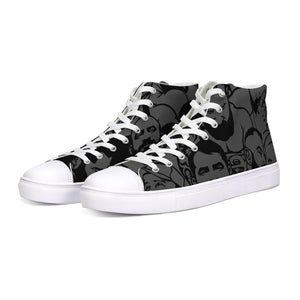 Simply Masculine  Gray Hightop Canvas Shoe