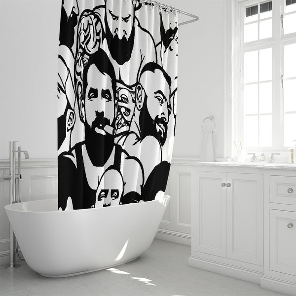 "Simply Masculine Shower Curtain 72""x72"""