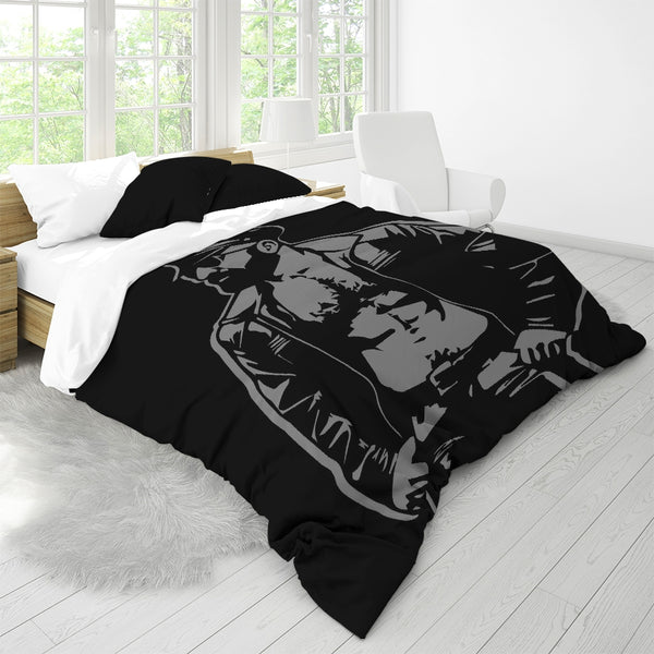 Leather Dad Queen Duvet Cover Set