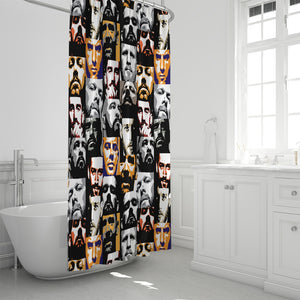 "Crowd Shower Curtain 72""x72"""