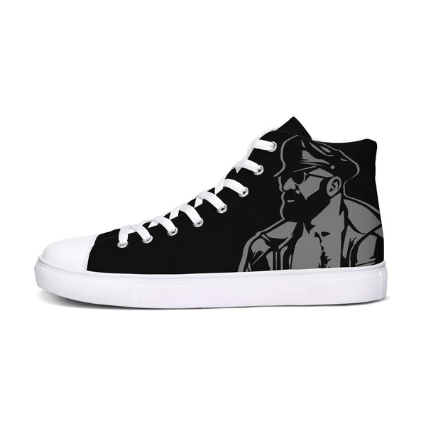 Leather Dad  & Cigar Hightop Canvas Shoe