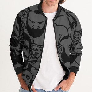 Simply Masculine Gray Men's Bomber Jacket