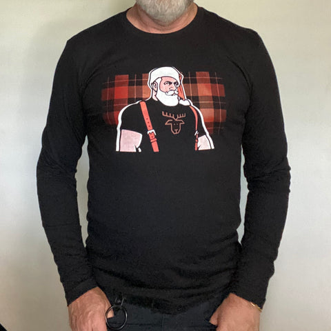 Santa 2020 hand printed Long Sleeve Tshirt