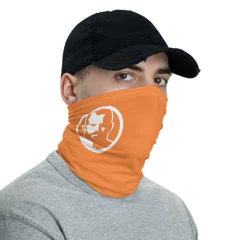 Man Icon orange Neck Gaiter