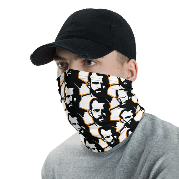 Man Icon Pattern Neck Gaiter