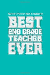 Teachers Planner Book & Notebook Best Second Grade by Teacher Gifts (Diary) NEW
