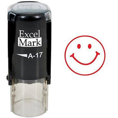 Round Teacher Stamp - SMILEY FACE 1- RED INK by ExcelMark Labels Indexes NEW SHL