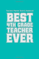 Teachers Planner Book & Notebook  Best 4th Gr by Teacher Gifts(Diary) BRAND NEW